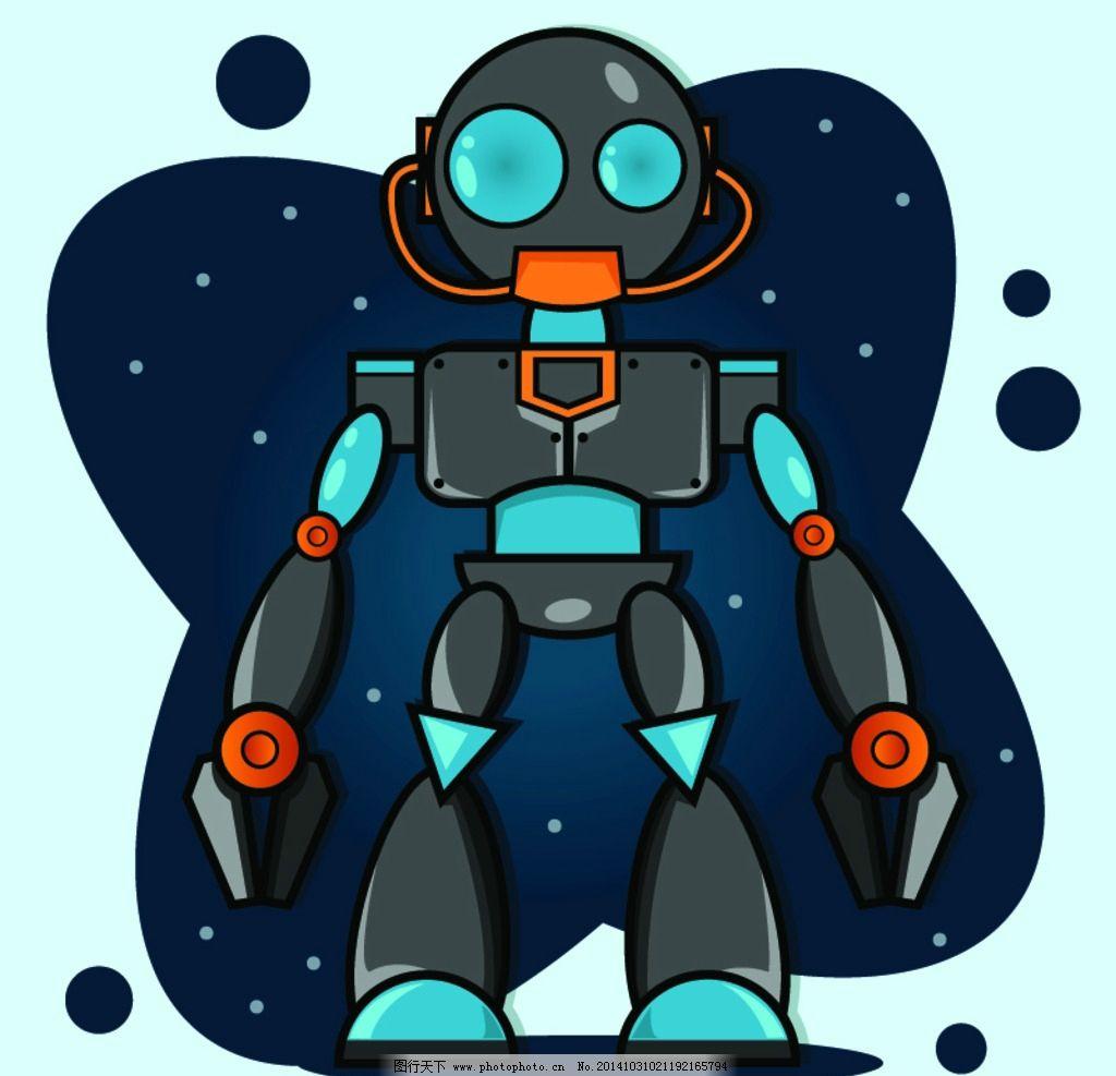 機器人 現代科技 創意 手繪 科技背景 卡通動漫 卡通機器人 科技時代