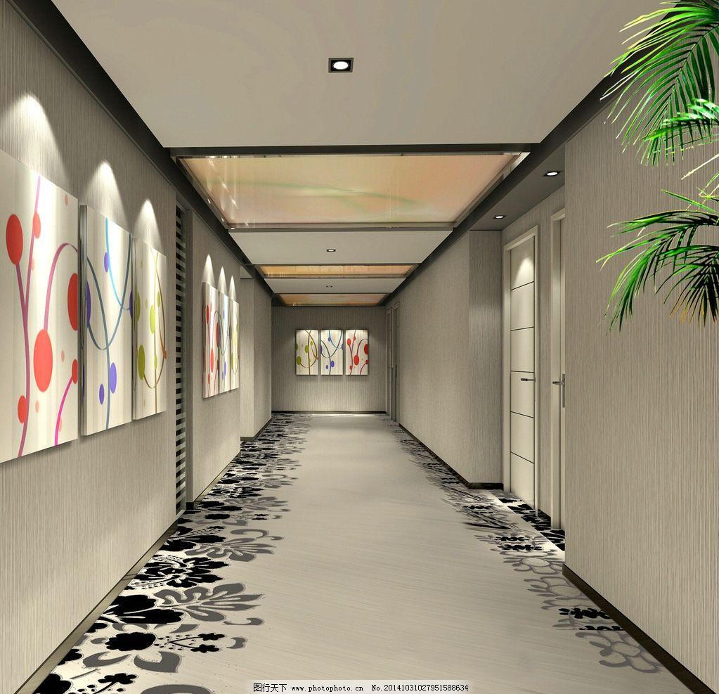 酒店走廊效果图图片