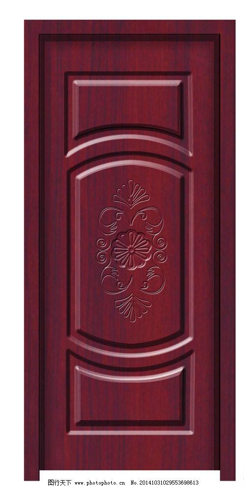 深红色木门图片