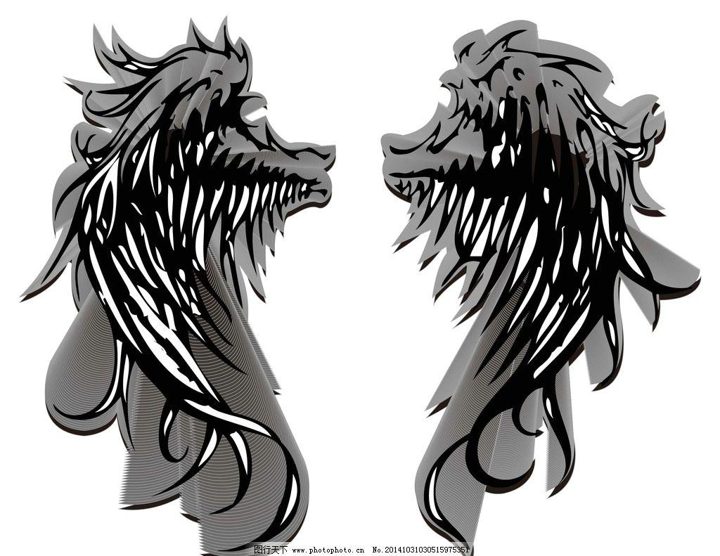 恶魔 翅膀 剪影 黑色的翅膀 天使 设计 动漫动画 其他 300dpi jpg