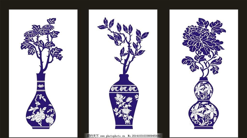 青花瓷花瓶简笔画花纹-白居寺壁画 明代藏传佛教艺术的瑰宝