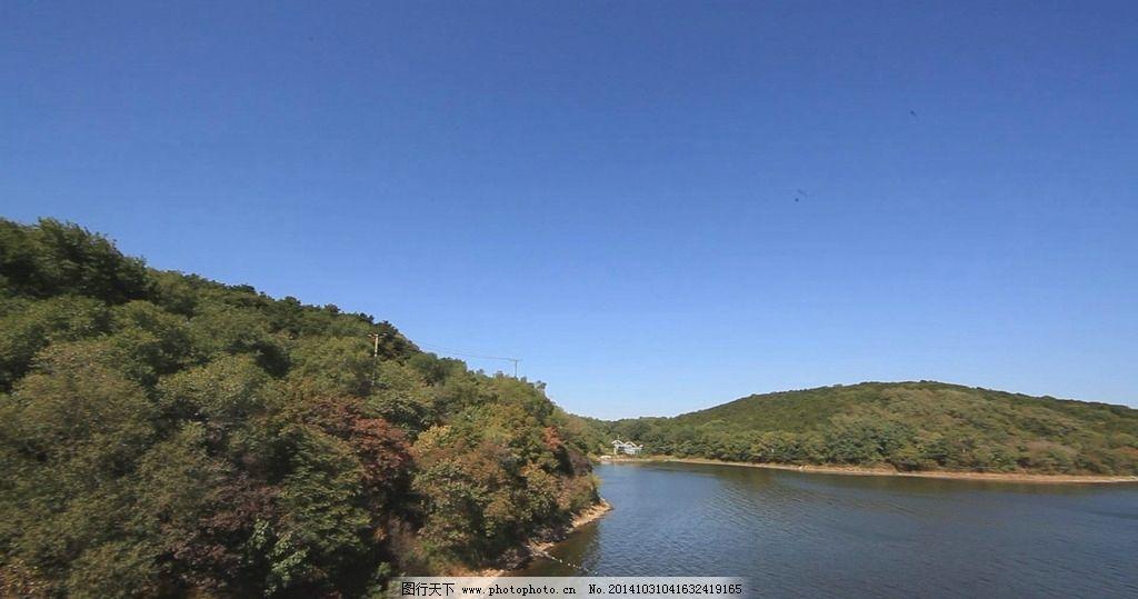 棋盘山 秀水 秀水湖 湖水 山 绿树 1080p 高清视频 视频 多媒体 实拍