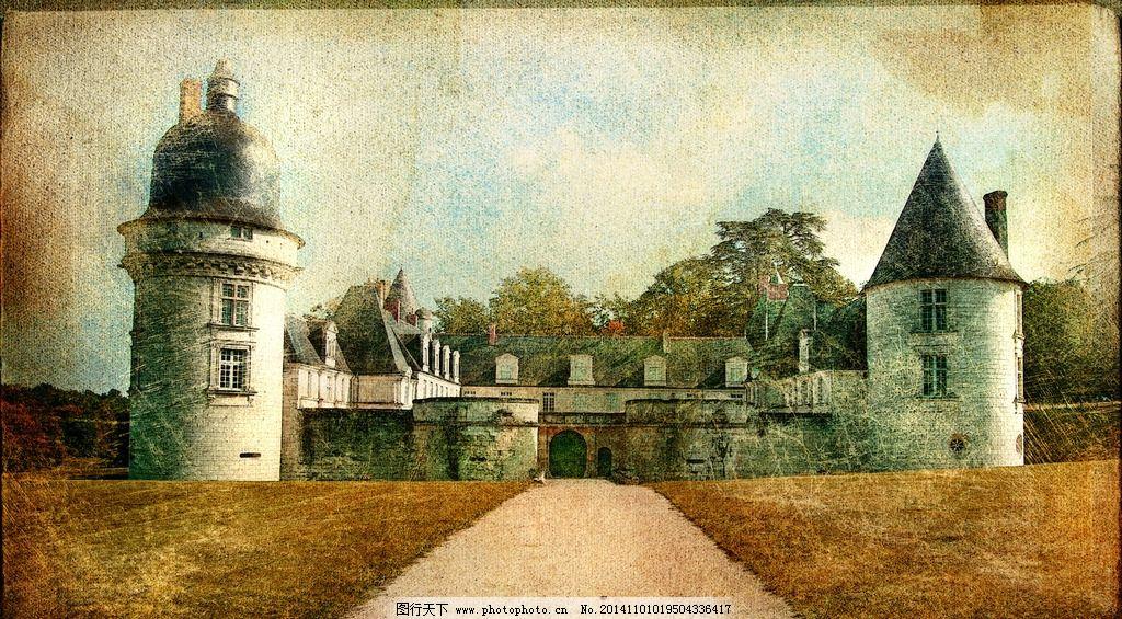 复古照片欧式建筑图片