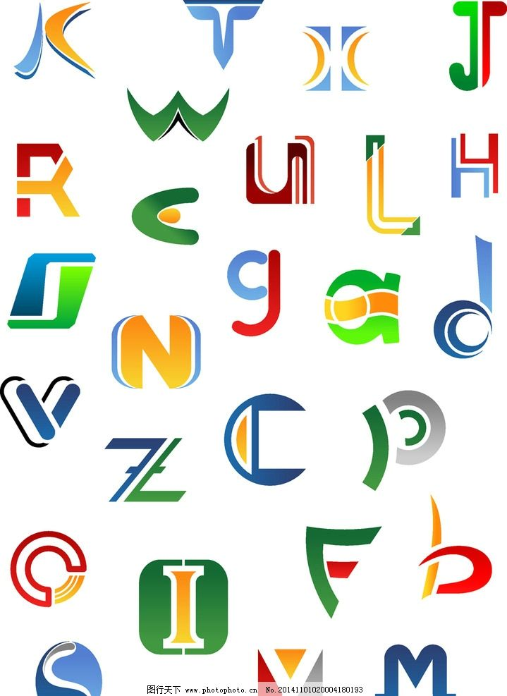 字母设计 英文字母 卡通字母 手绘英文 图标 拼音 创意字母 矢量