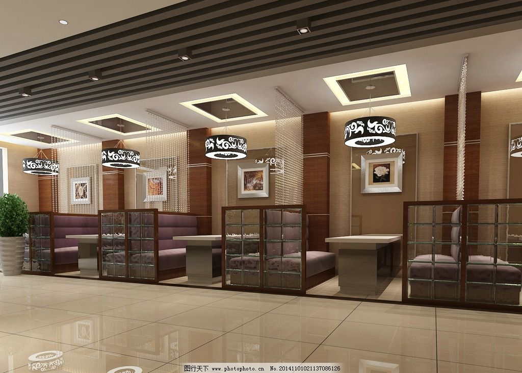 卡座餐厅 休闲吧效果 矮隔断效果 背靠背沙发 饭店卡座 设计 3d设计