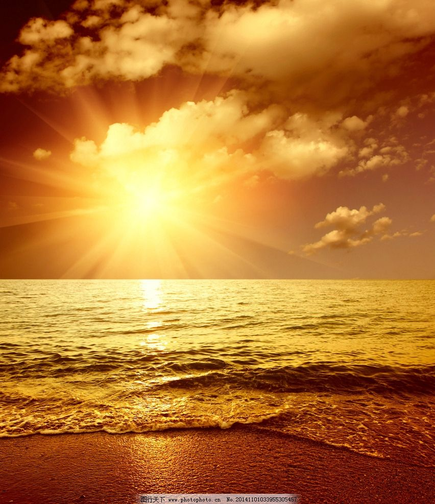 唯美夕阳大海 秦皇岛 风景 风光 清新 意境 自然 落日 日落