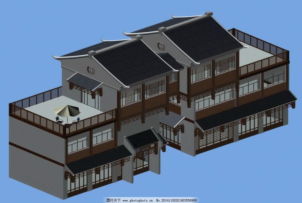 建筑 客栈 模型      模型 建筑 客栈 古代      3d模型素材 建筑模型