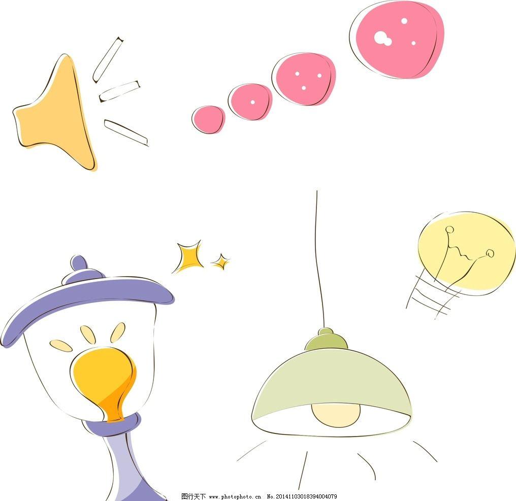 台灯 灯泡图片_动漫人物_动漫卡通_图行天下图库