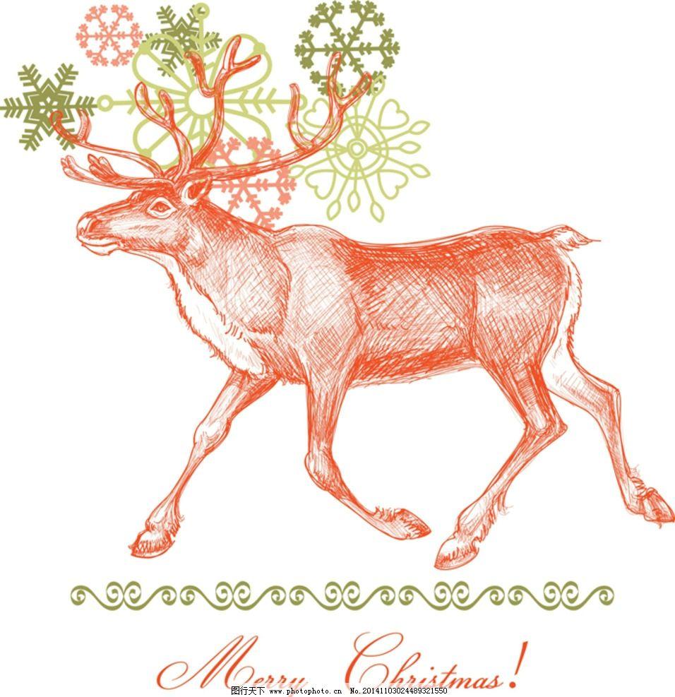 梅花鹿 矢量鹿 鹿头 动物 野生动物 矢量动物 设计 生物世界 野生动物