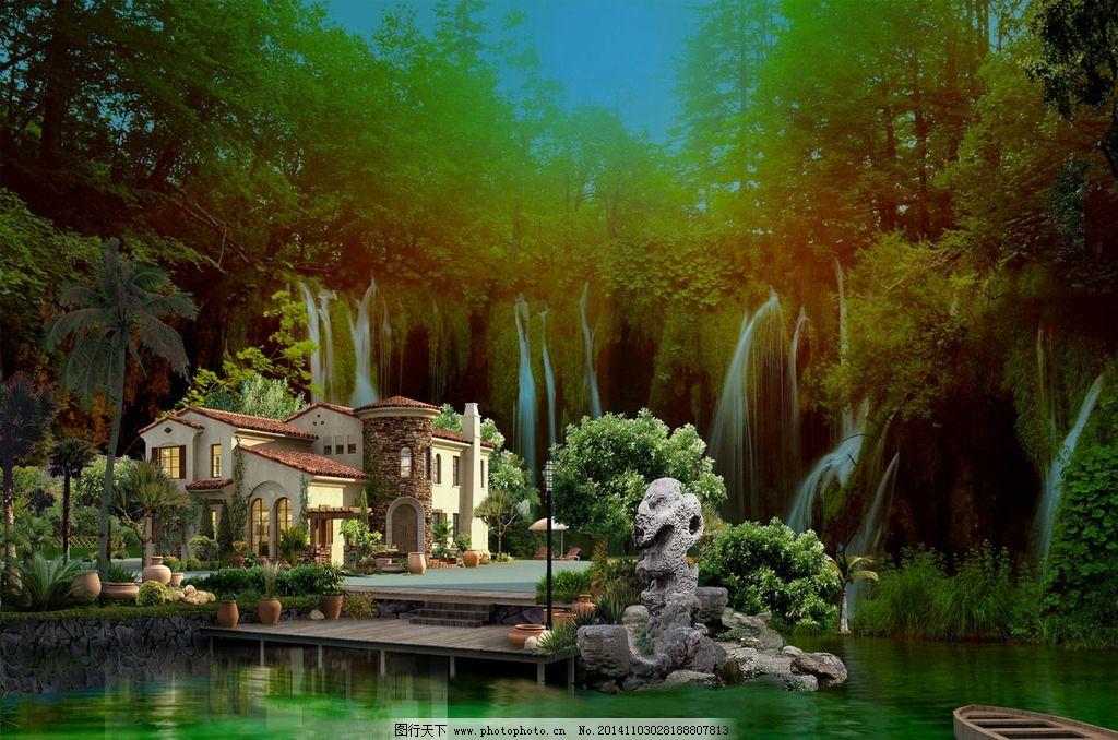 别墅美丽景观设计图片