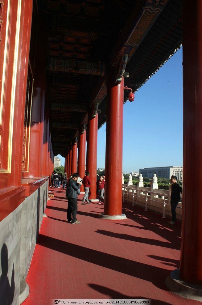 天安门楼道 摄影 红柱子 摄影作品专辑 建筑景观