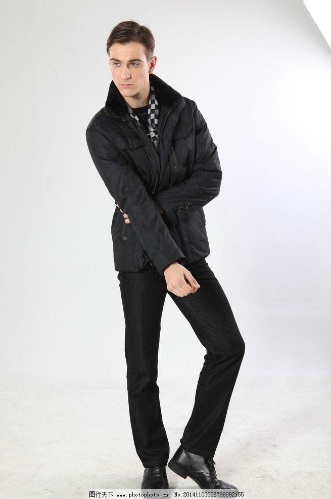 设计图库 人物图库 男性男人  平面模特 棉衣模特 潇洒帅气 酷男 酷毕
