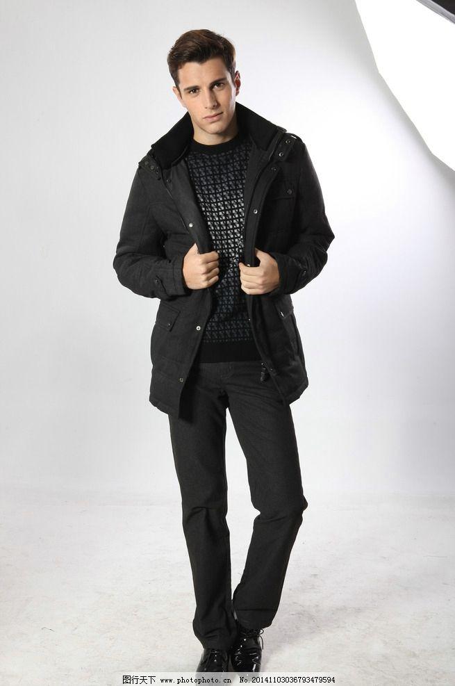 冬装模特 平面模特 健壮男人 外套 酷男 个性帅气 外国模特 欧美模特