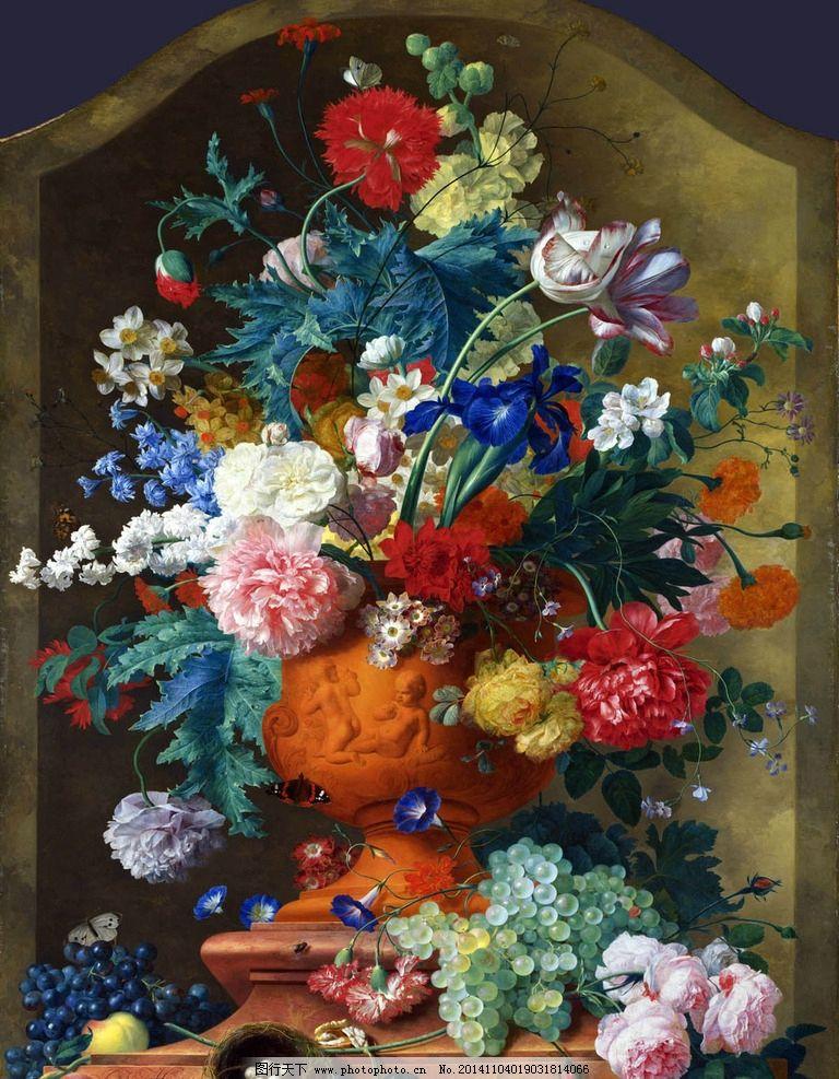 古典花油画 写实静物油画 油画作品 花卉静物油画 超写实油画 文化