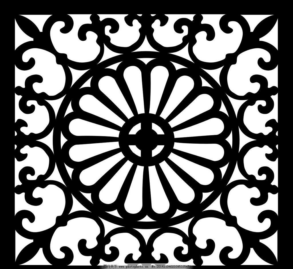 雕刻花纹 镂空雕刻花纹 木雕 装饰花纹 矢量花纹 矢量素材 其他矢量