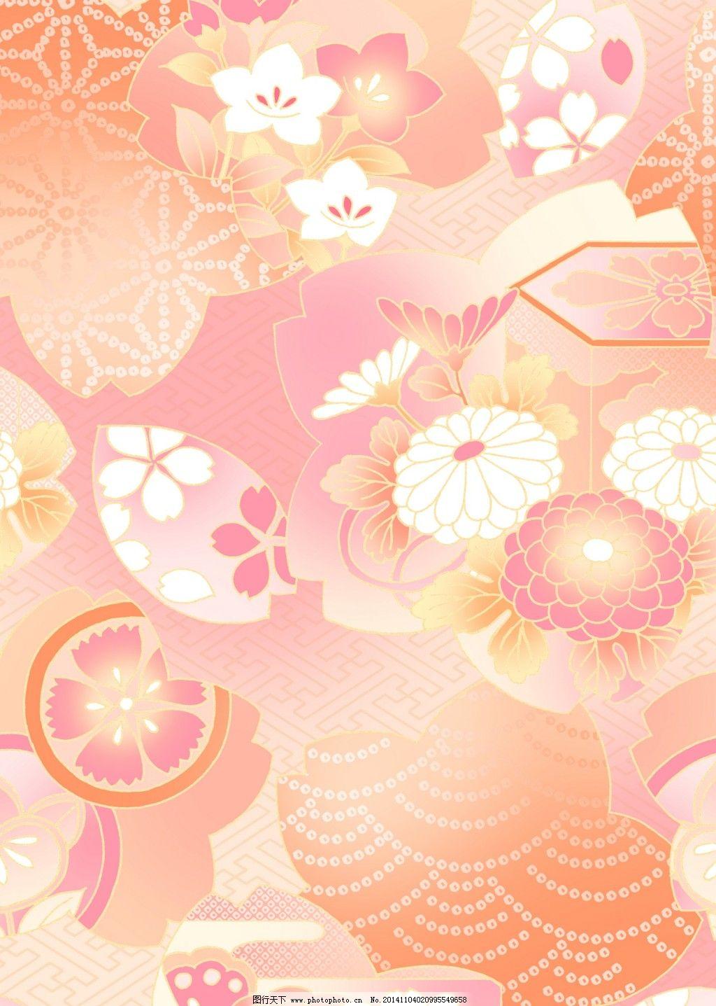 花朵背景日式_背景图片_底纹边框_图行天下图库