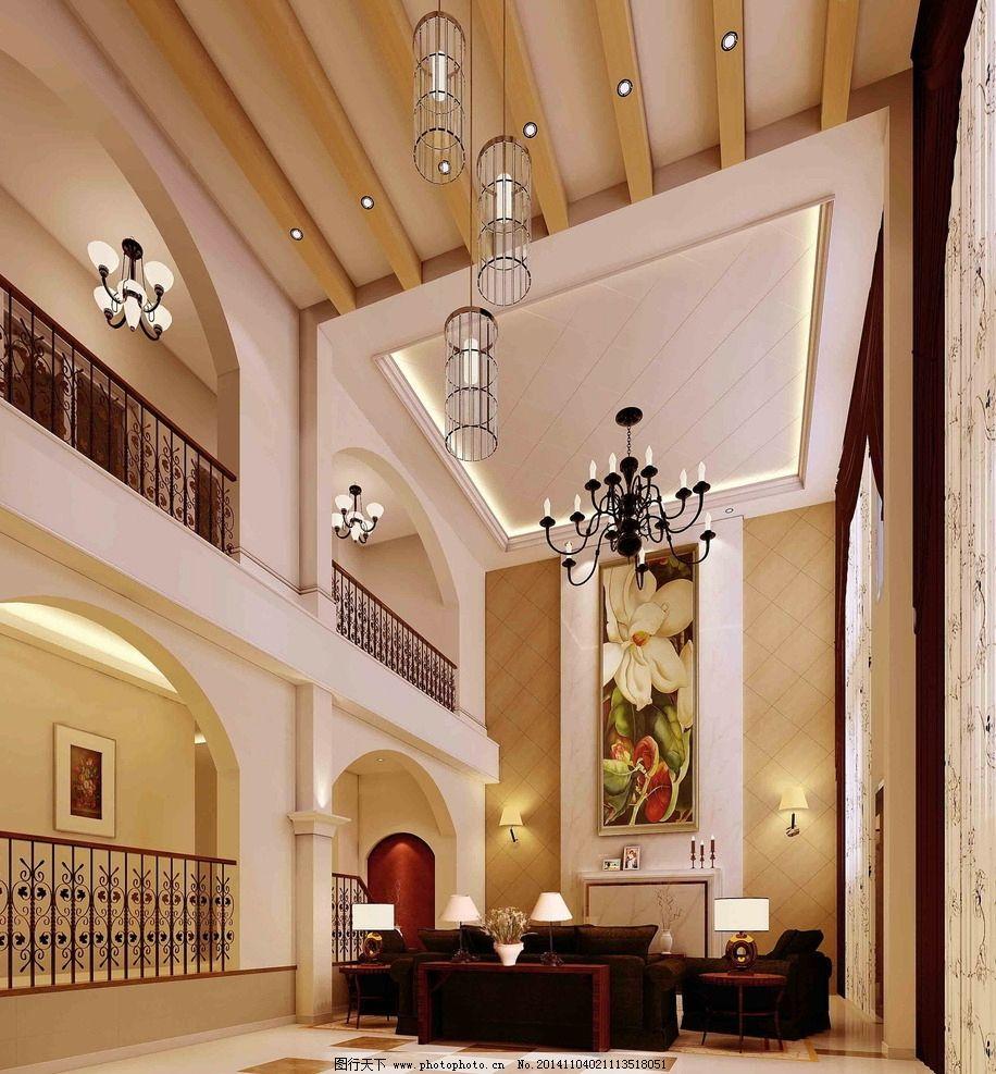 复式客厅             复式 欧式 简约 简欧     3d作品 3d设计 设计