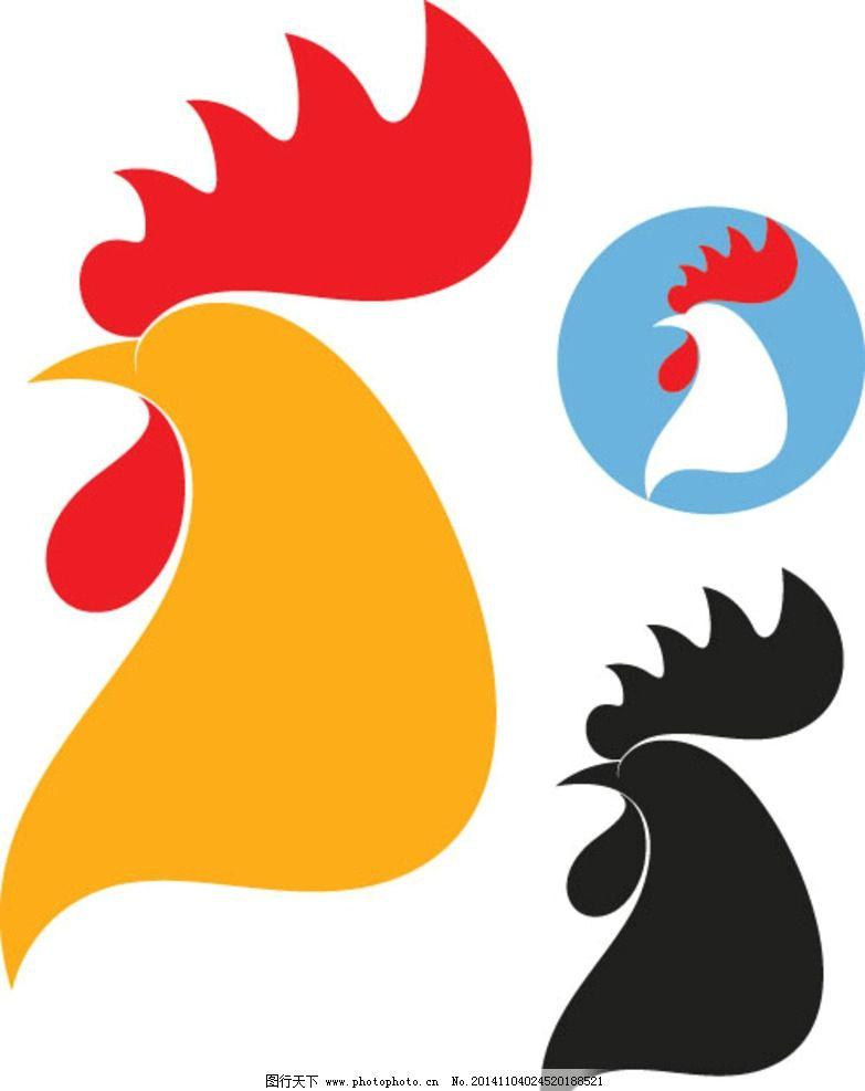 公鸡 卡通鸡 卡通动物 手绘 生物世界 矢量 eps 家禽家畜 设计 生物