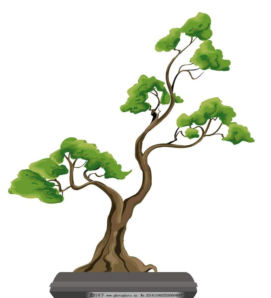 树木 绿叶 绿植 树叶 绿树 手绘树木 树木贴图 植物 生物世界 矢量 设
