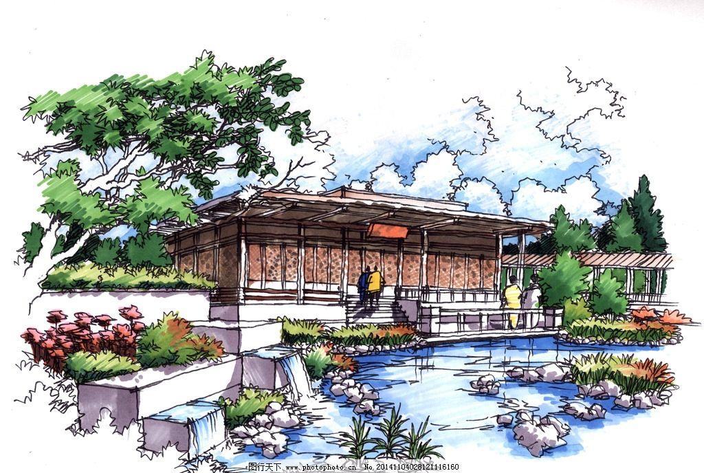 艺筑手绘杨平景观手绘图片