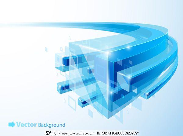 蓝色科技信息管道数码产品背景