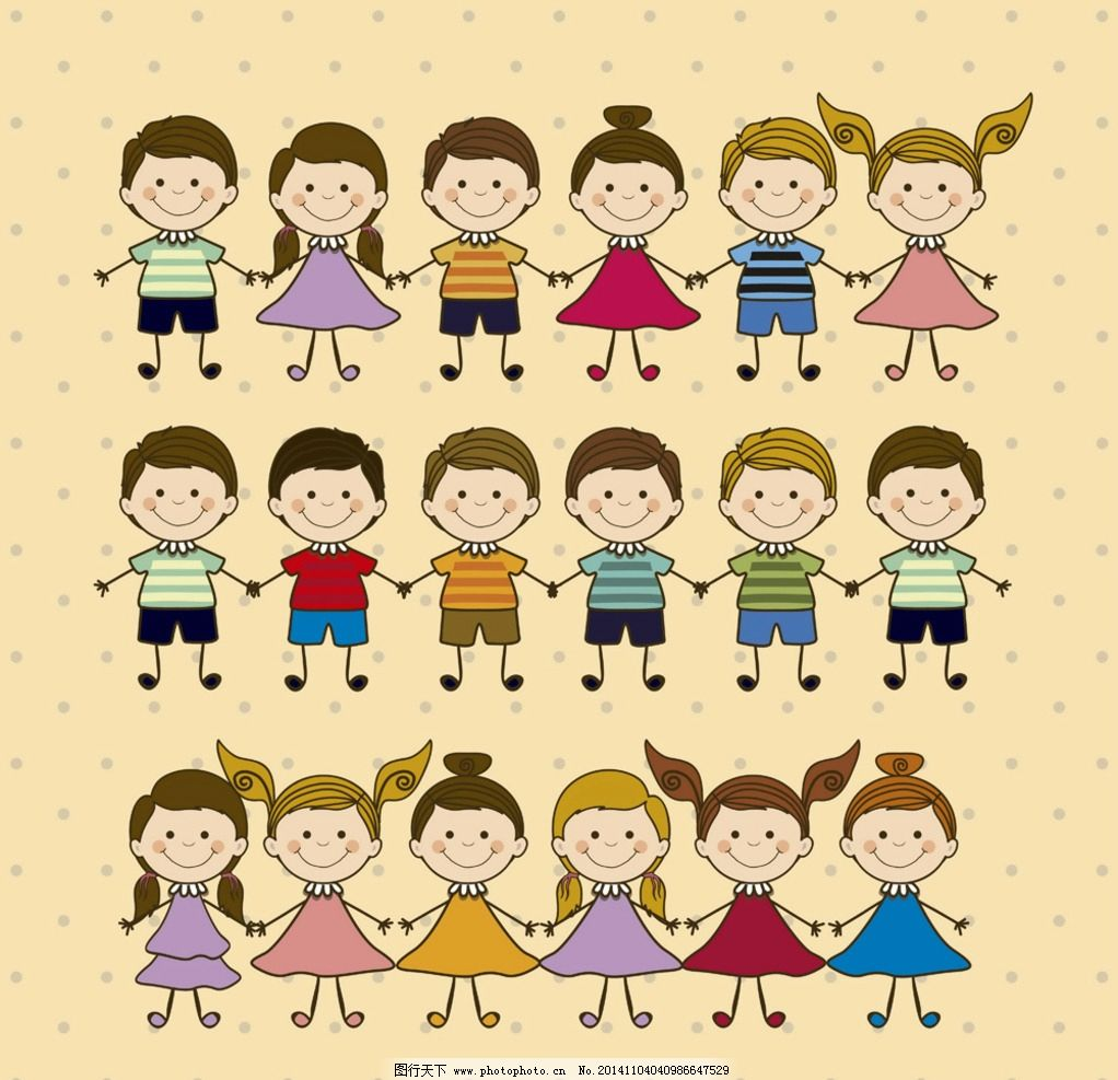 卡通人物 手绘 儿童 简笔画人物 矢量 设计 生活人物 eps 设计 人物