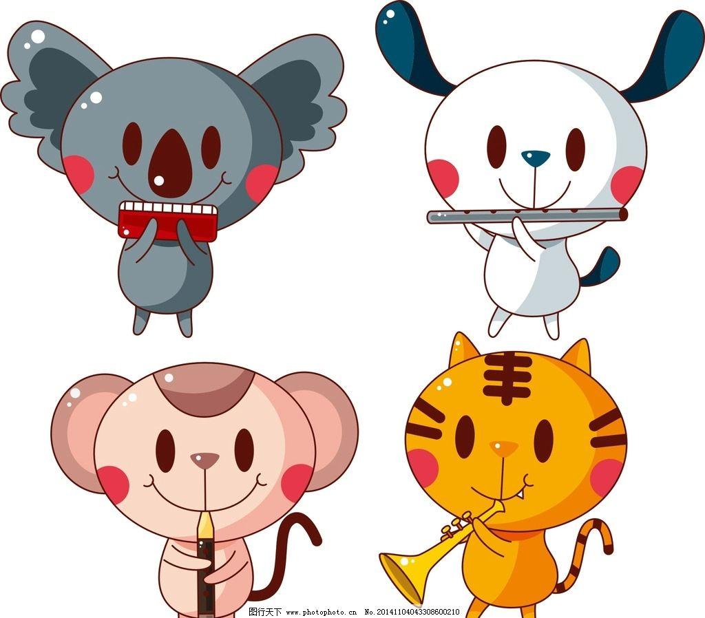 乐器 卡通动物图片