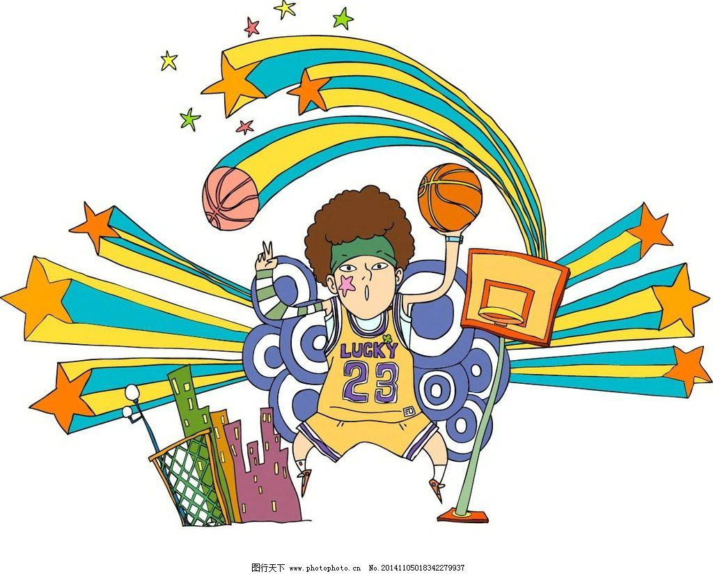 潮流卡通人物篮球明星图片