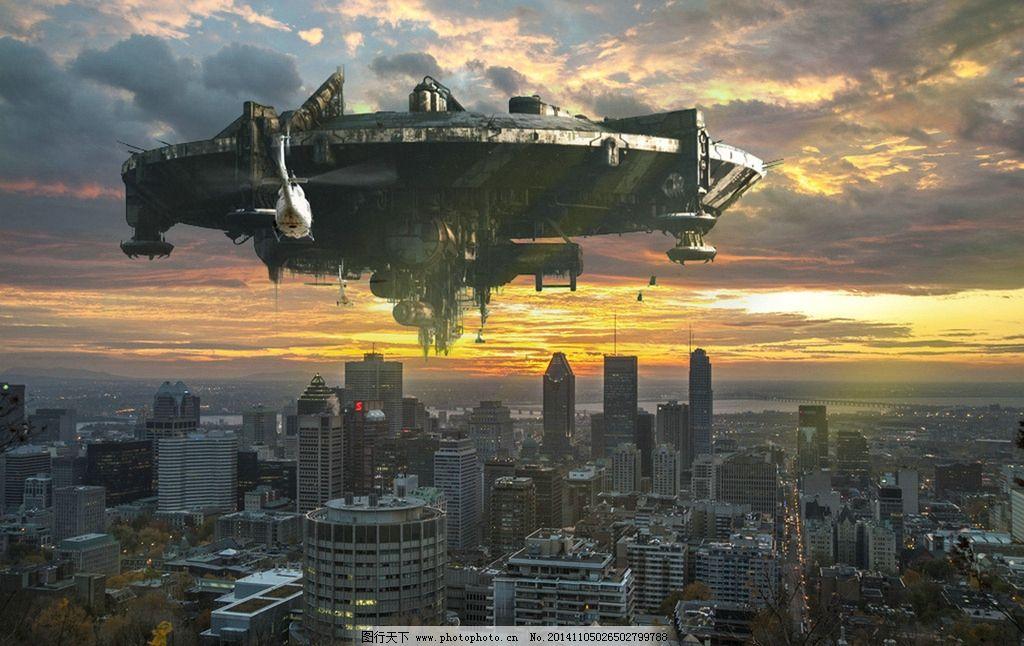 宇宙飞船 科幻 影视 特效 ps  设计 现代科技 科学研究 72dpi jpg