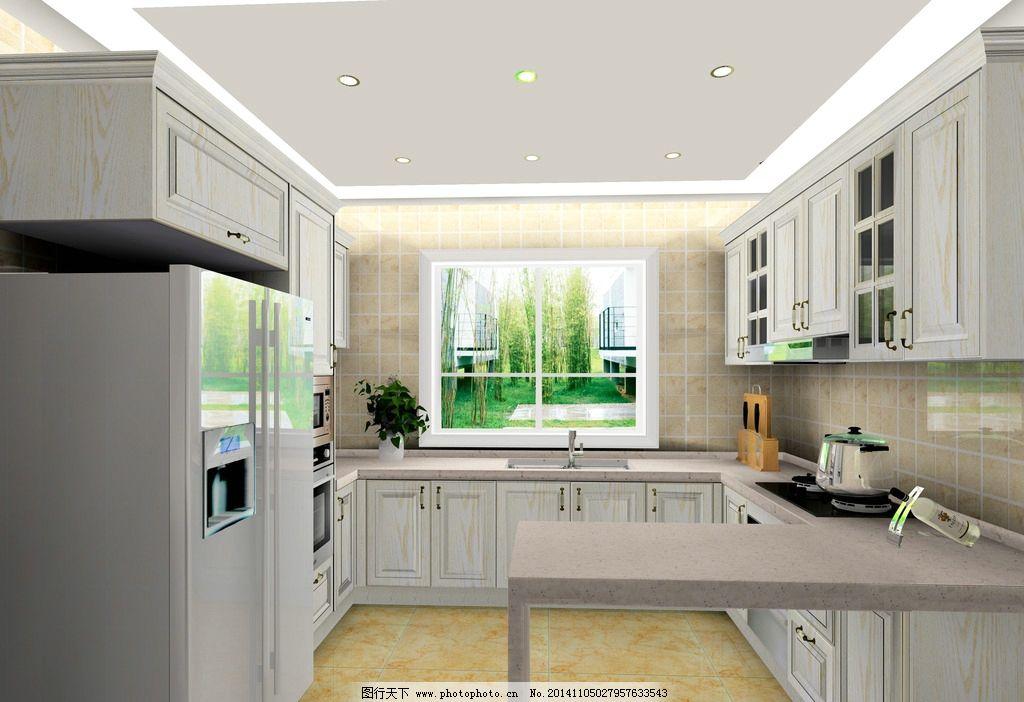 吧台      白色实木 开放漆 橱柜 设计 环境设计 室内设计 72dpi jpg