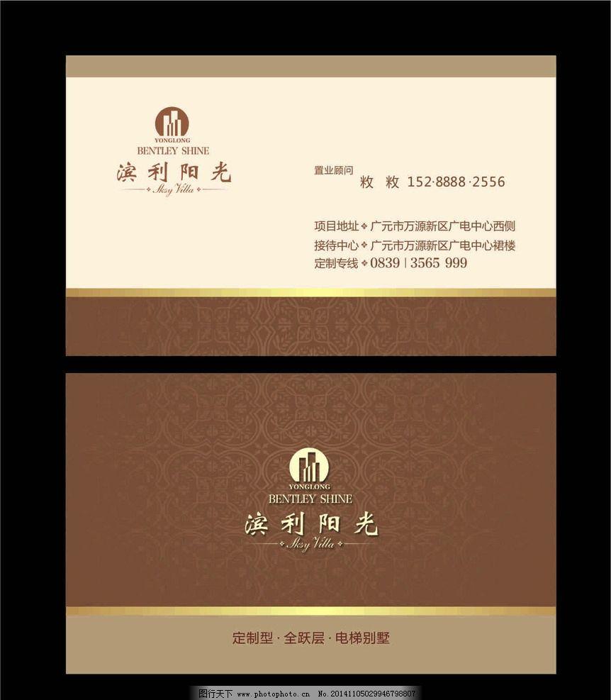 卡片 证卡 底纹 欧式 形象 房产 大气 高端 典雅  设计 广告设计 名片