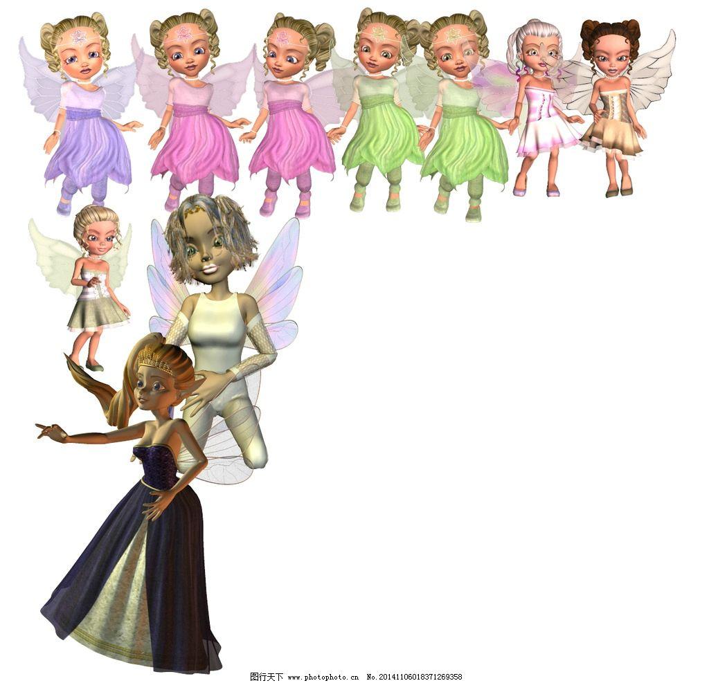 儿童天使小精灵图片