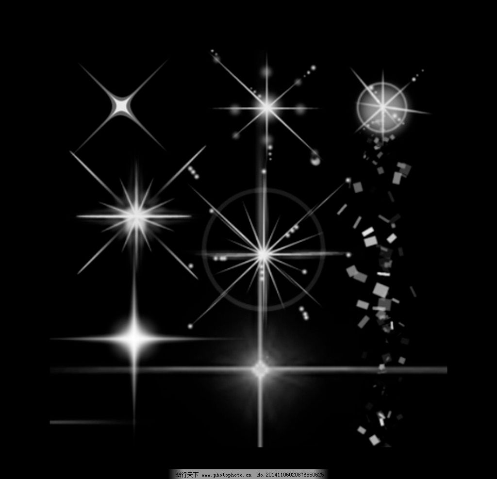 PS笔刷 星光星星