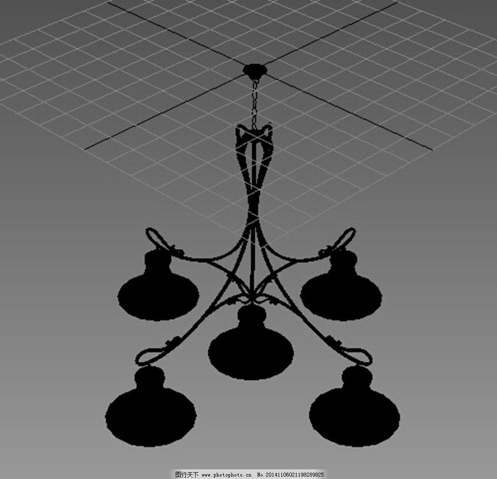 欧式餐厅吊灯 家装 欧式吊灯 吊灯模型 效果图模型 礼盒礼物 室内模型