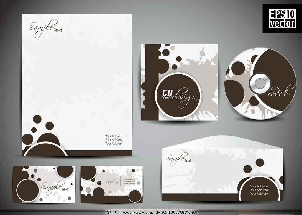 vi设计 光盘封面 信封 信纸 名片 卡片 整体包装 光盘设计 cd dvd封面