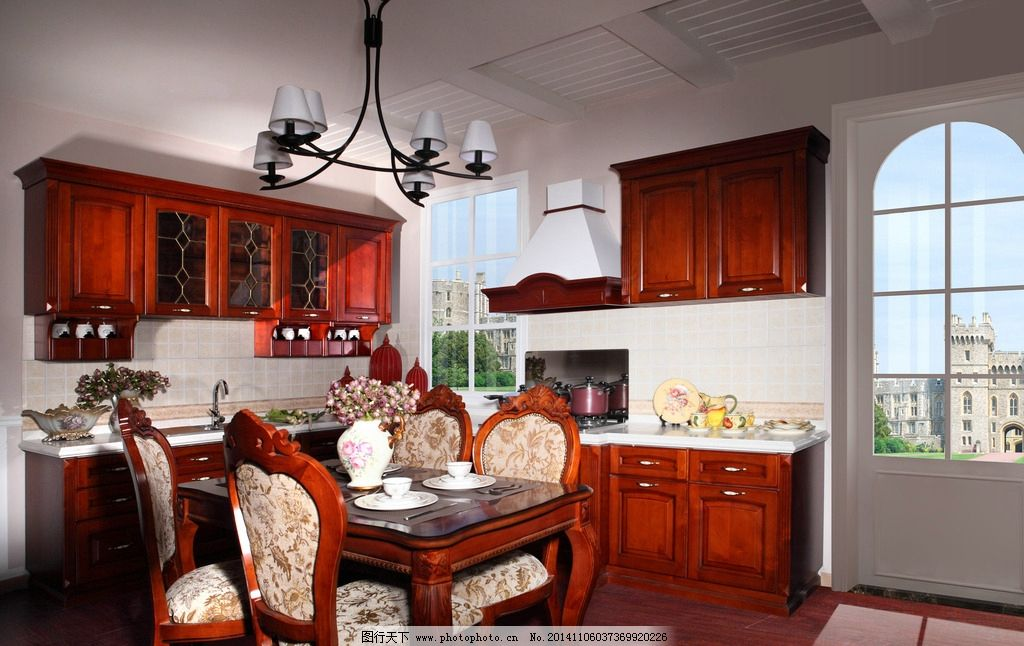 整体厨房 美式厨房图片