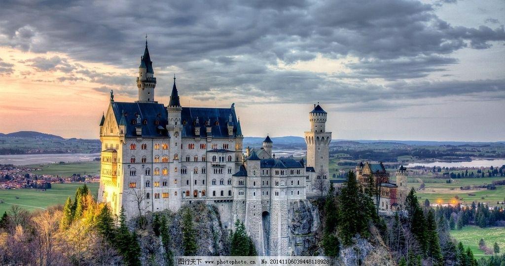 欧式建筑 欧洲 古典 宫殿 复古建筑 城堡 古堡 城市 建筑景观