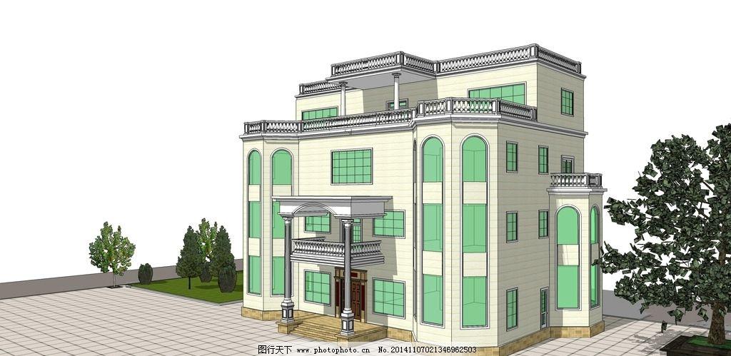 农村 别墅 自建 农村别墅 自建别墅  设计 3d设计 室外模型 300dpi图片