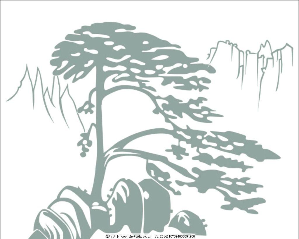 松树的简笔画图片大全