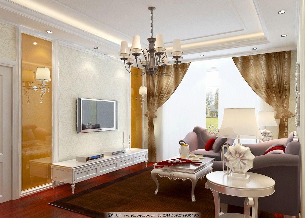 欧式客厅电视墙图片