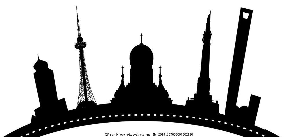 哈尔滨城市剪影图片