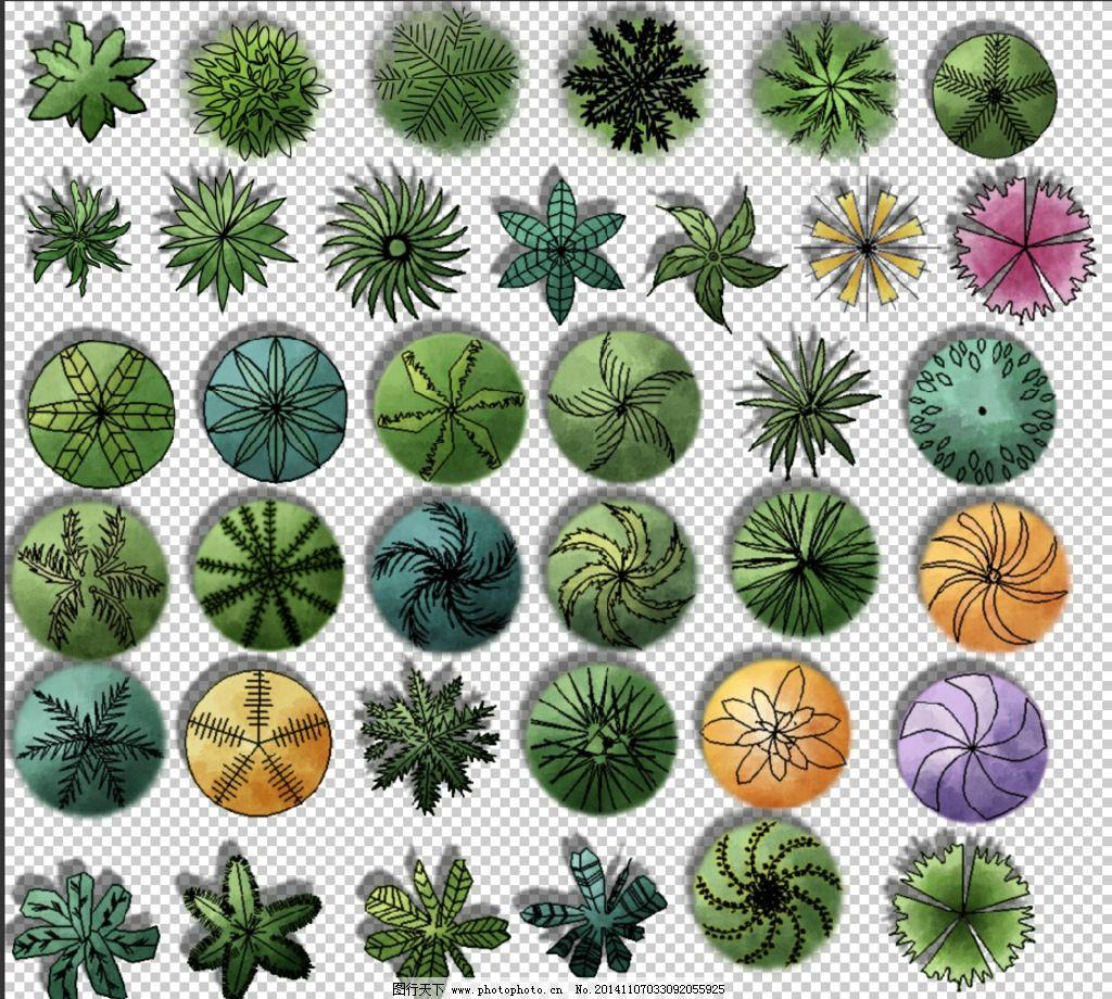 ps植物平面图例2图片