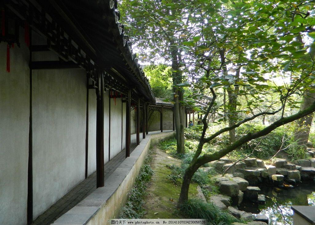 苏州园林长廊图片