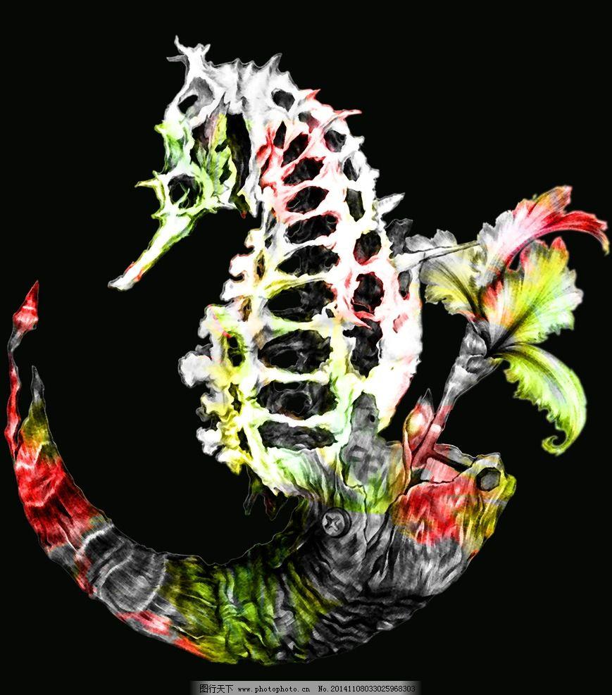 花纹 抽象花纹 渐变花纹 手绘花纹 骨架花纹 彩色花纹