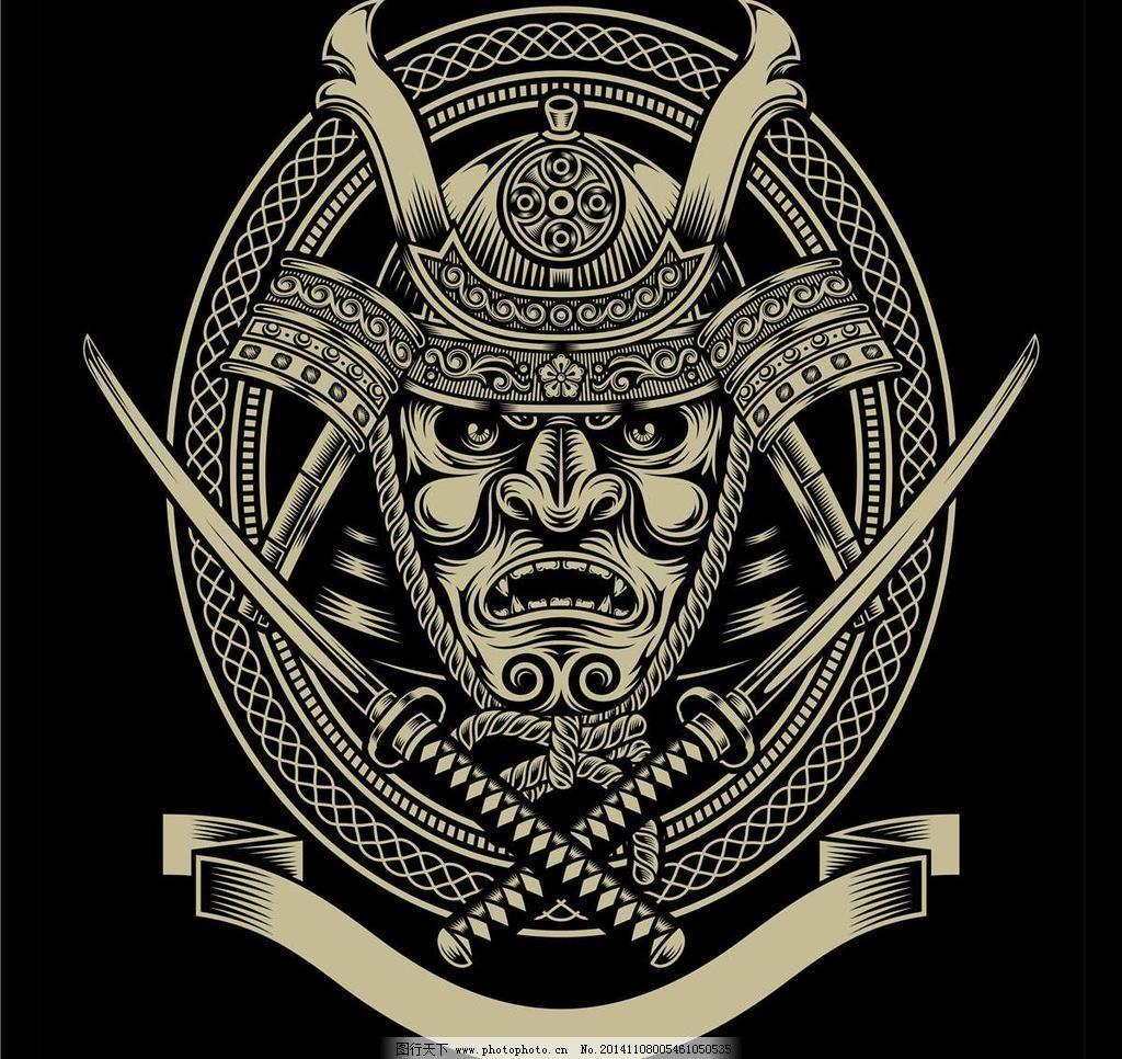 骷髅t恤图案纹身设计