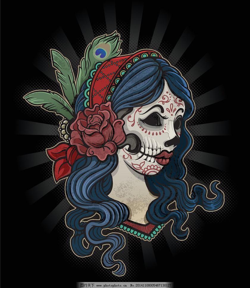 欧式花纹 哥特风格图案 欧美纹身 欧式卡通 欧式设计 欧美设计 服装