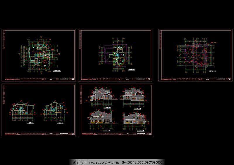 别墅楼房设计cad图纸