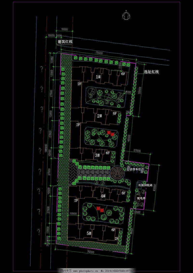 某住宅小区总cad平面图免费下载 cad设计图 cad素材 建筑素材 图纸