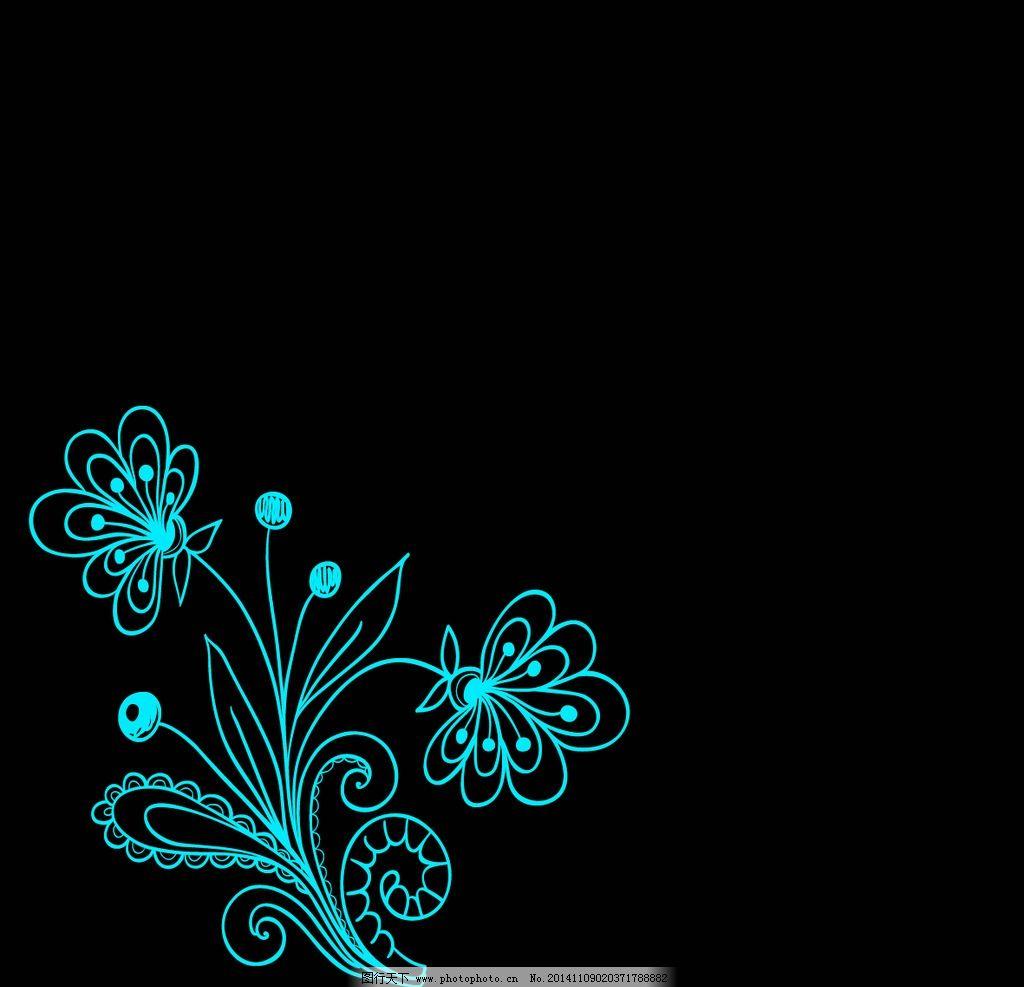 线条 花纹 矢量 线条花纹 手绘 设计 底纹边框 花边花纹 300dpi psd