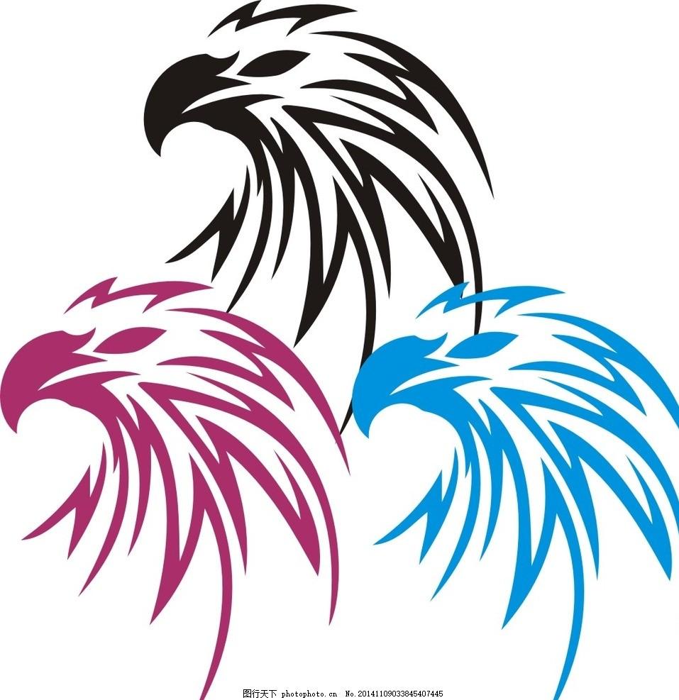 印花图案 动物世界 潮流纹身 时尚纹身 纹身元素 飞翔的鸟 变形的鸟